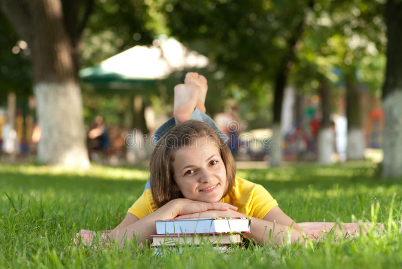 Download Student in park stock photo. Image of girl, college, green - 10983376