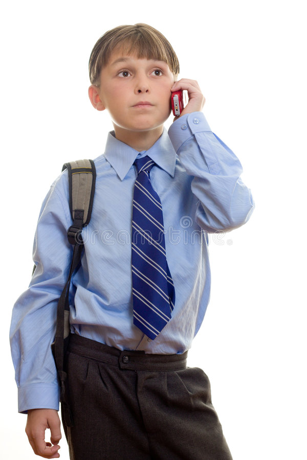 Download Student With Phone To Ear Royalty Free Stock Photos - Image: 518628
