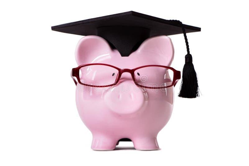 Student Piggy Bank royalty-vrije stock foto's