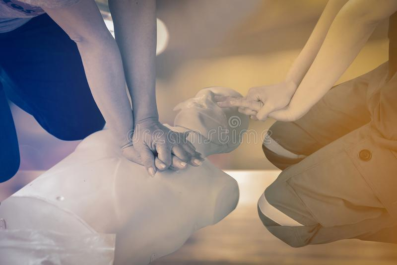 CPR royalty free stock photography