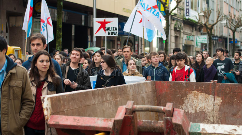 Student protest stock image