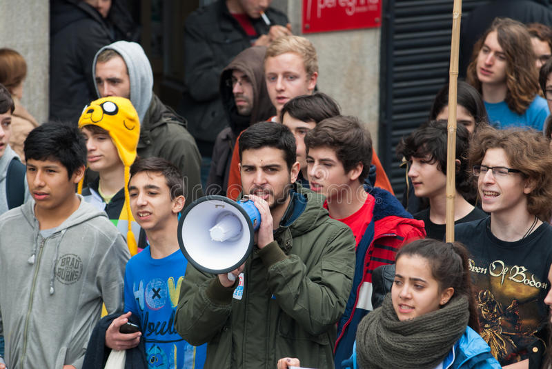 Student protest stock photography