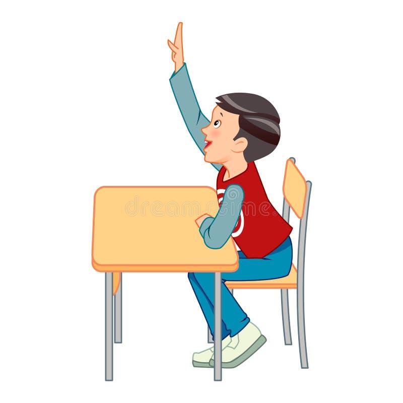 Student raise their hands stock photos