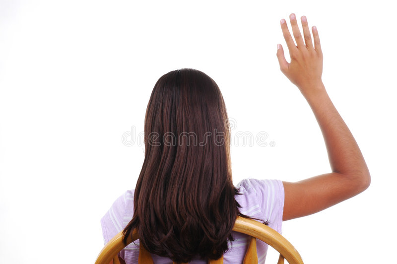 Download Student Raising Hand stock image. Image of model, seated - 2726129