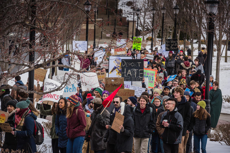 Student Rally - RPI - Troy, New York stock images