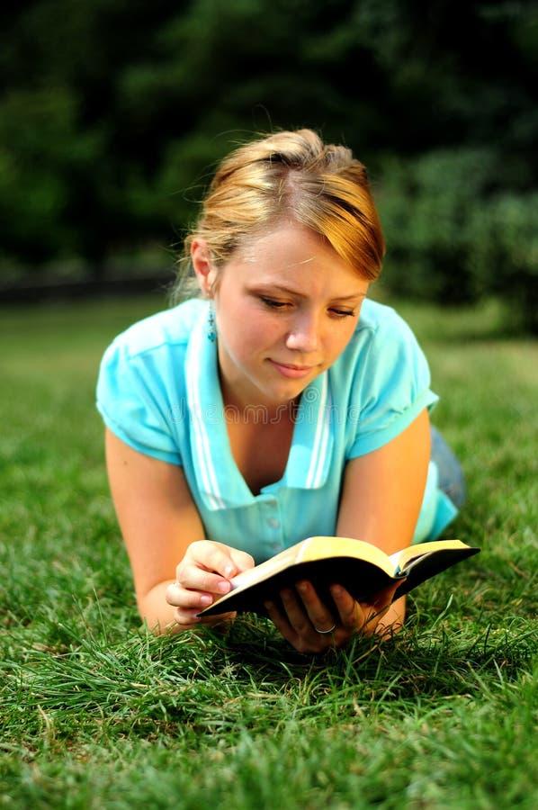 Student Reading stock image
