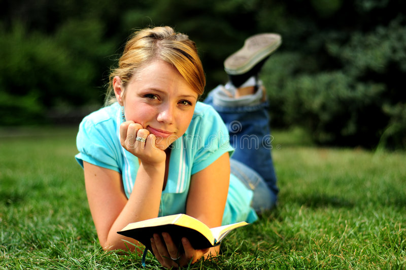 Student Reading royalty free stock photo