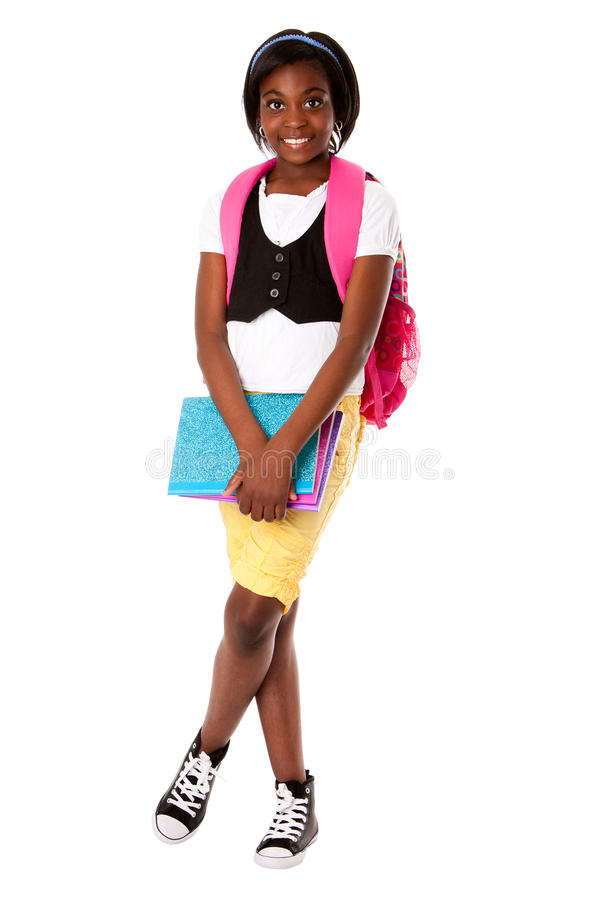 Student ready for school royalty free stock images