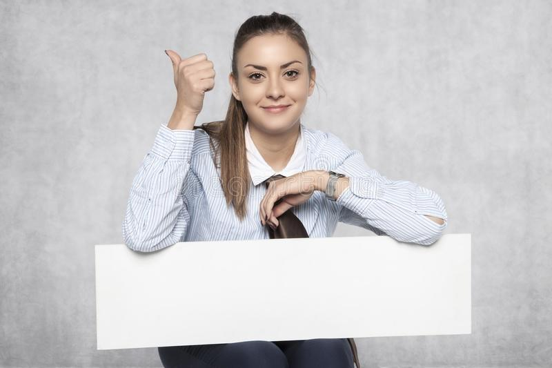 Student recommends advertising, a way to earn money stock photography