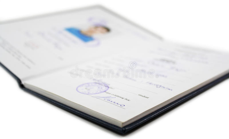Student's book royalty free stock photo