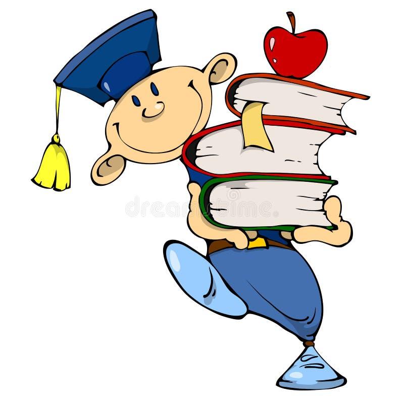Student schleppt das Buch lizenzfreie stockfotos