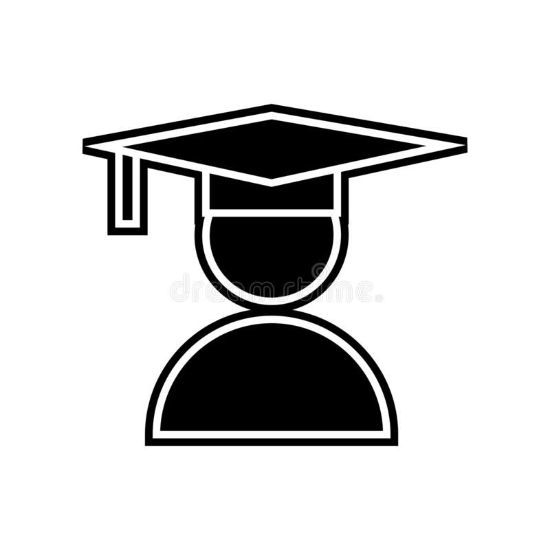 Student or school icon. Element of Education for mobile concept and web apps icon. Glyph, flat icon for website design and. Development, app development on stock illustration
