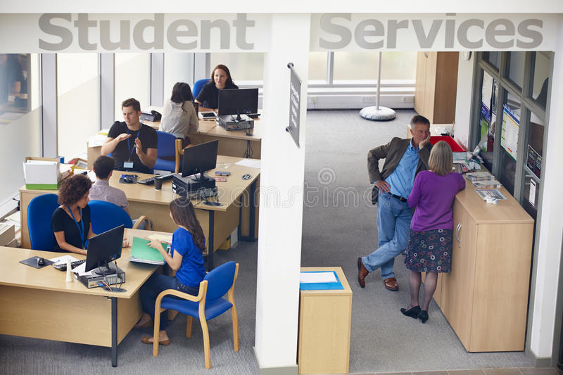 Student Services Department Of University Providing Advice royalty free stock images