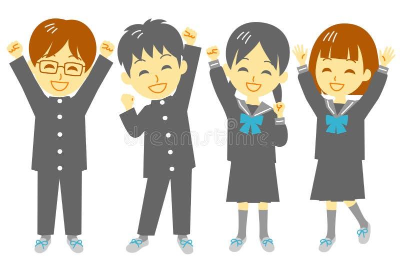 Student, shout for joy. Classmate, file stock illustration