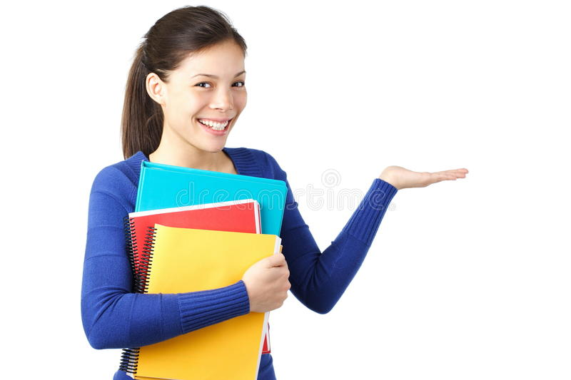 Student showing royalty free stock image