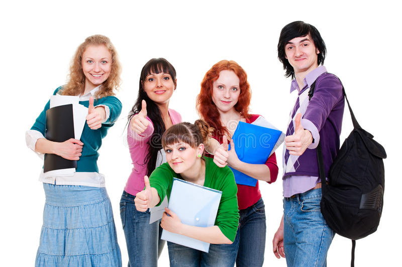 Download Student showing thumbs up stock image. Image of isolated - 14625283