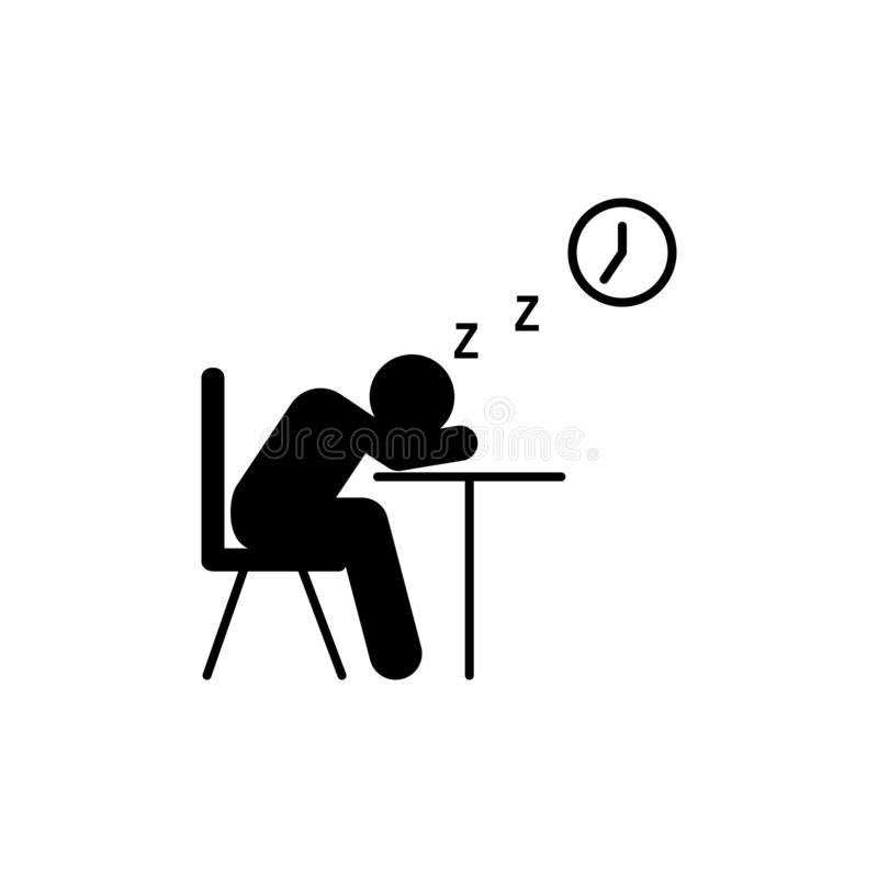 Student sleep time school icon. Element of back to school illustration icon. Signs and symbol collection icon for websites, web vector illustration