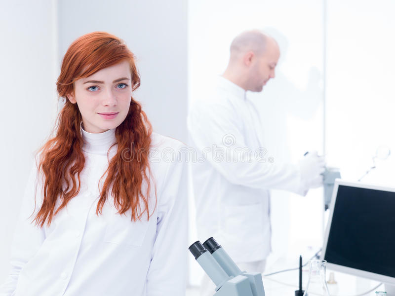 Download Student Smiling In A Chemsitry Lab Stock Photo - Image: 31258866