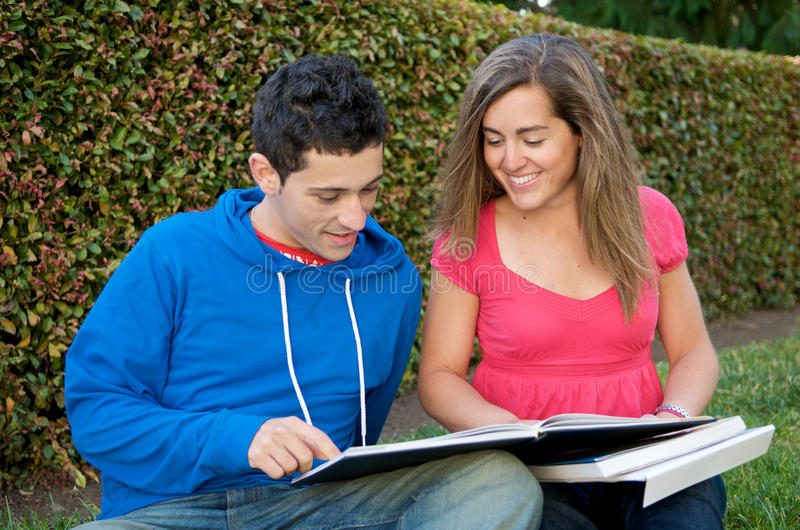 Download Student studying stock photo. Image of female, male, studying - 10099810