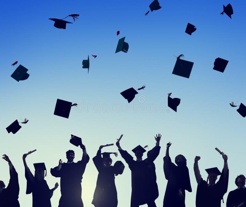 Student Success Learning Concep för berömutbildningsavläggande av examen arkivfoton