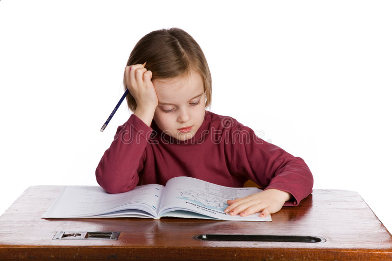 Student thinking stock image