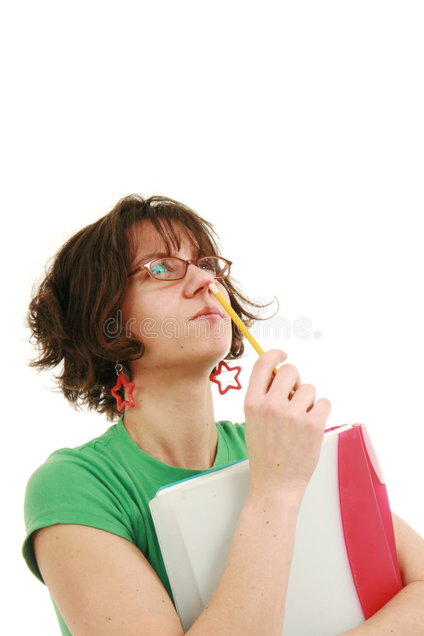 Download Student thinking stock photo. Image of student, nerds - 8137566