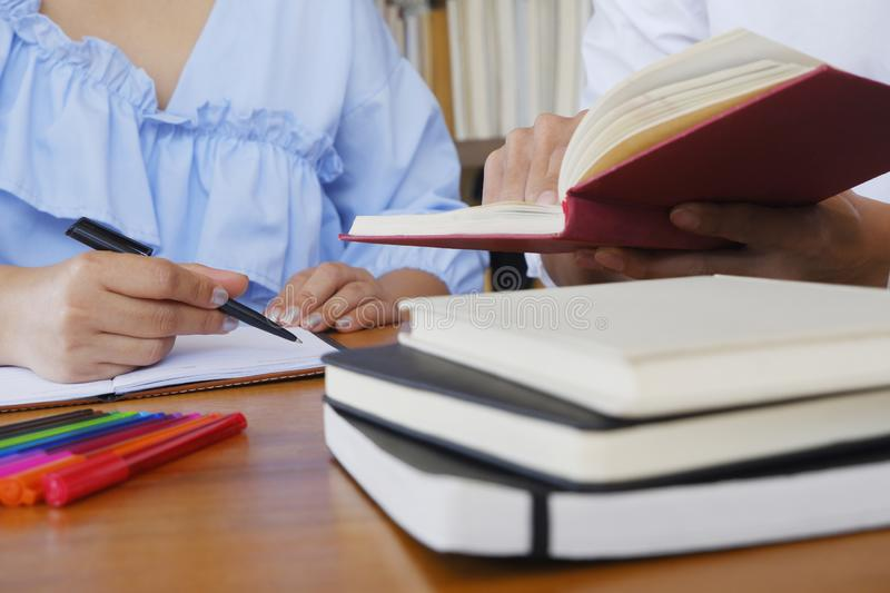 Student tutoring teaching learning education concept stock photo