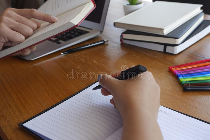 Student tutoring teaching learning education concept royalty free stock photography