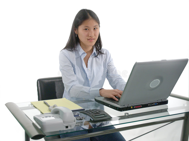 Student Typing stock images