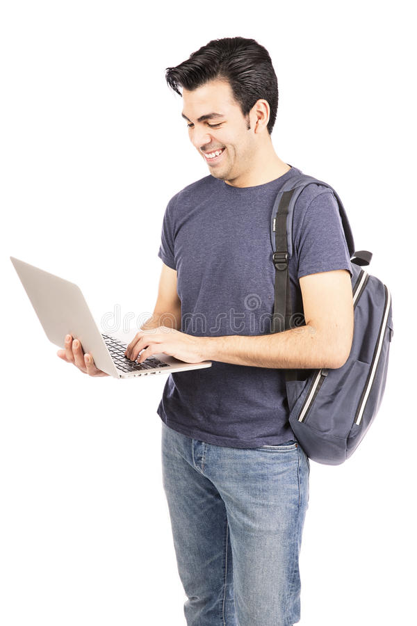 Download Student using a  laptop stock image. Image of internet - 36672753