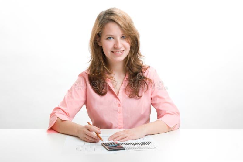 Student van economie stock foto