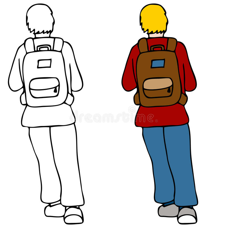Download Student Wearing Backpack stock vector. Illustration of clipart - 17777753