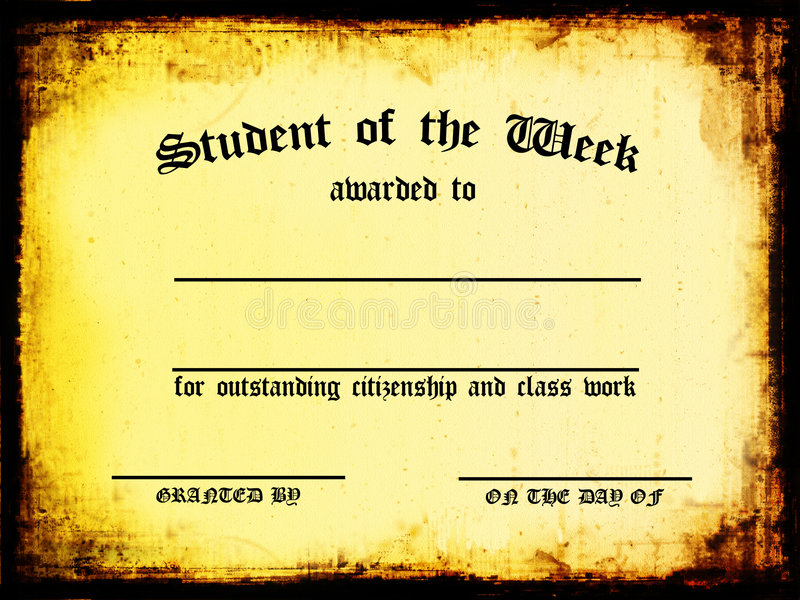 Student of the Week royalty free illustration