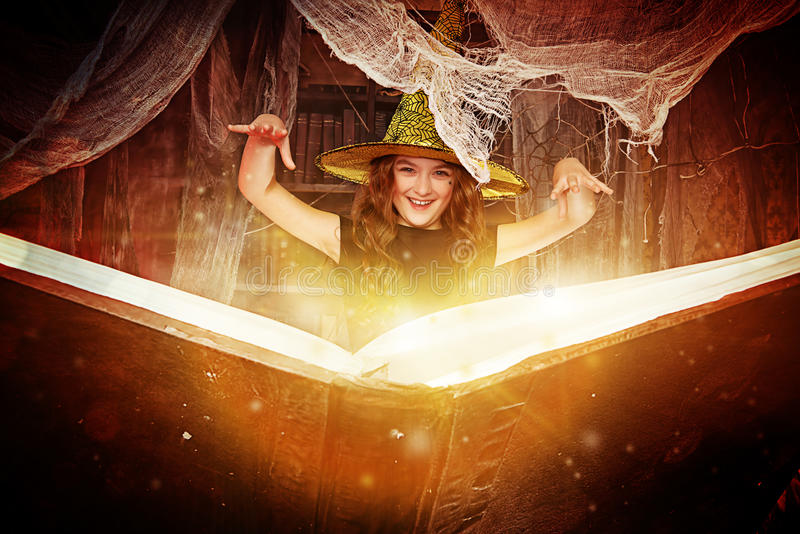 Student of the witch stock image