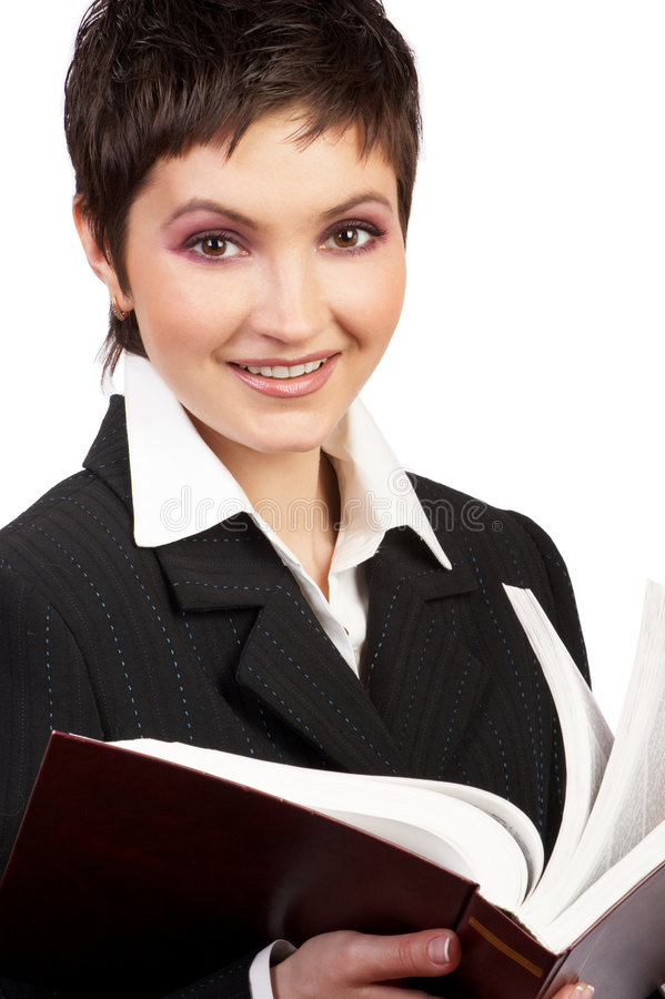 Student woman. Young student woman reading a book royalty free stock photos