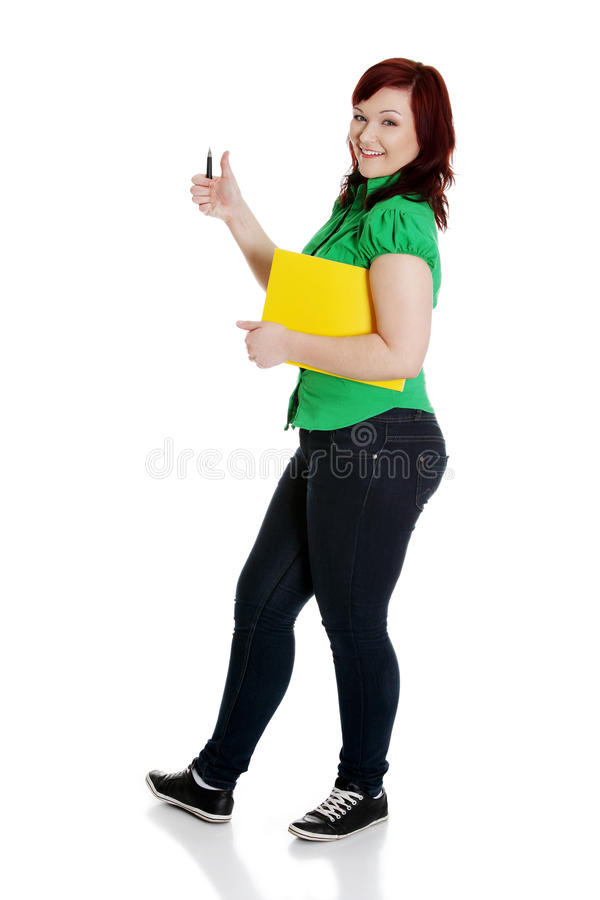 Download Student Woman Gesturing OK. Stock Image - Image: 24100741