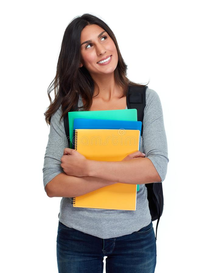 Student woman. royalty free stock images