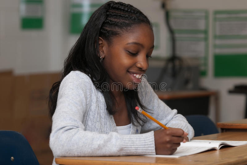 Student working stock images