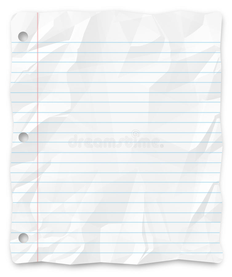 Download Student Writing Paper Lined Three-Hole Punched Stock Image - Image: 9371371