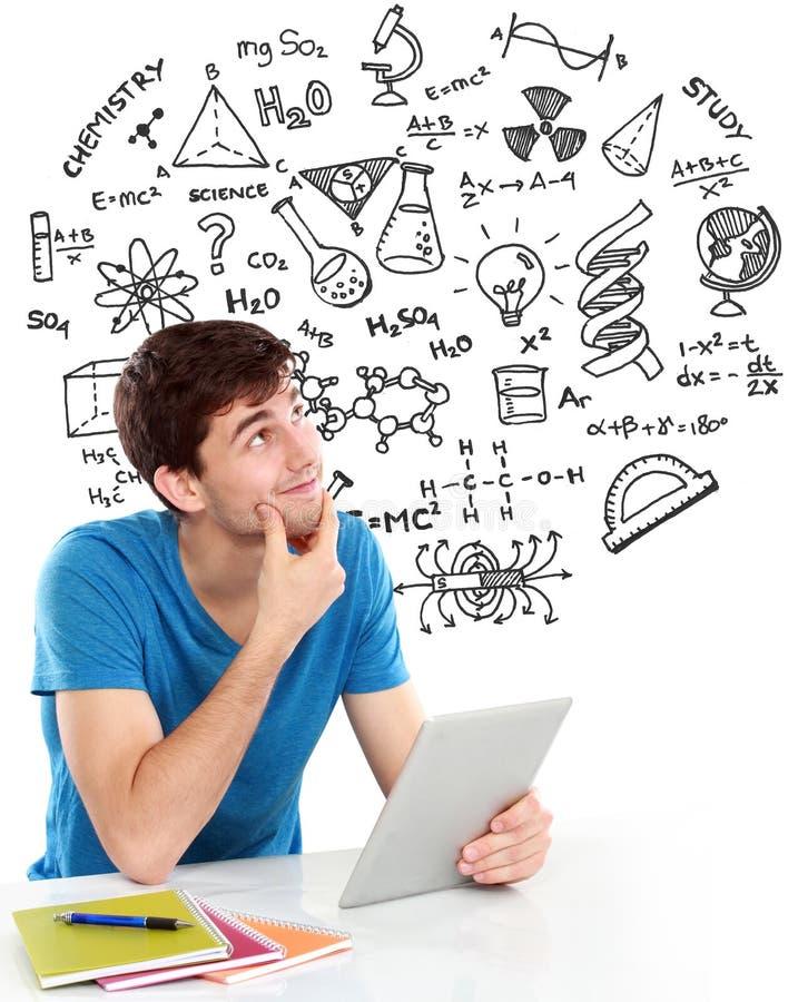 Studenta collegu główkowanie i studiowanie zdjęcia stock