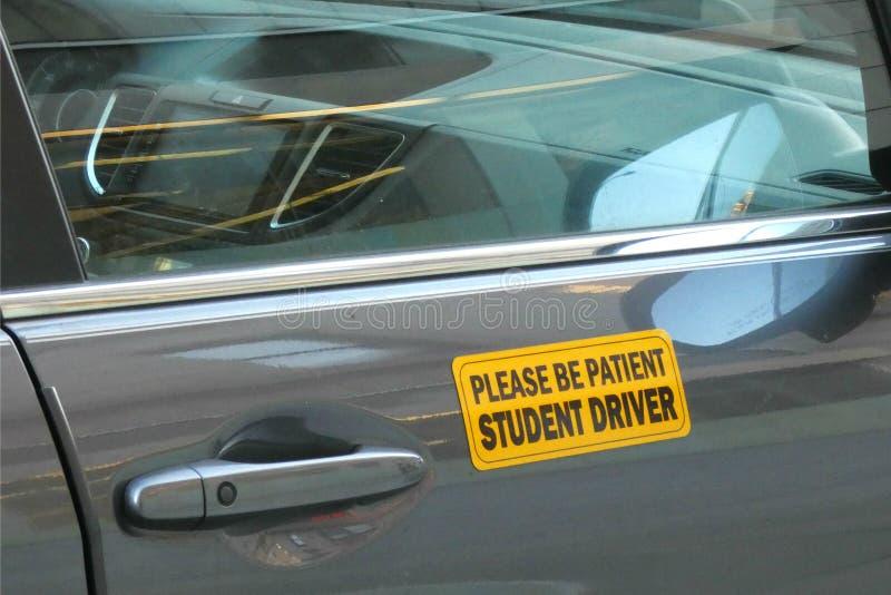 Studentchaufför arkivfoto