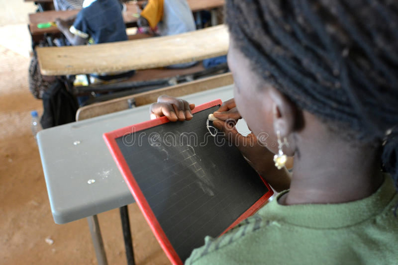 Studente africano fotografie stock libere da diritti