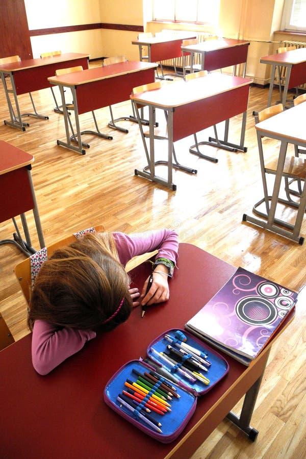 Studente annoiato solo immagini stock libere da diritti