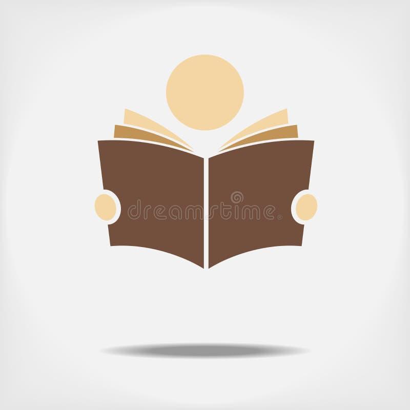 Studente che legge un libro immagine stock