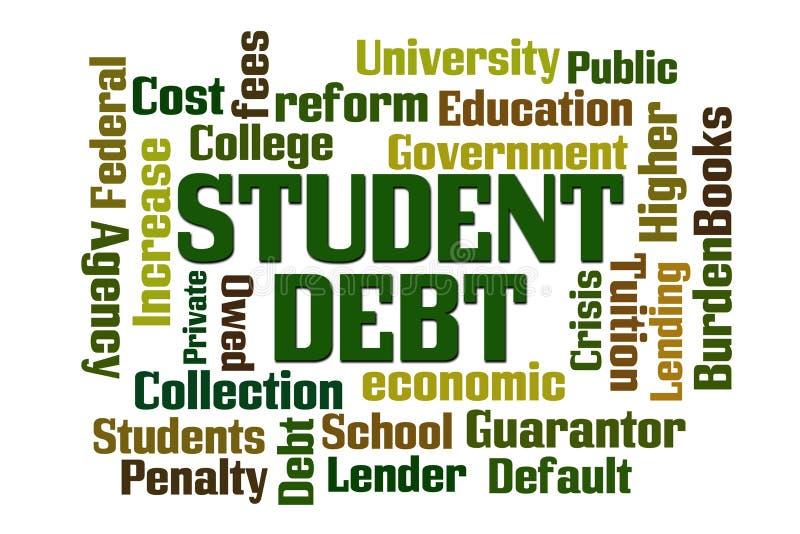 Studente Debt illustrazione vettoriale