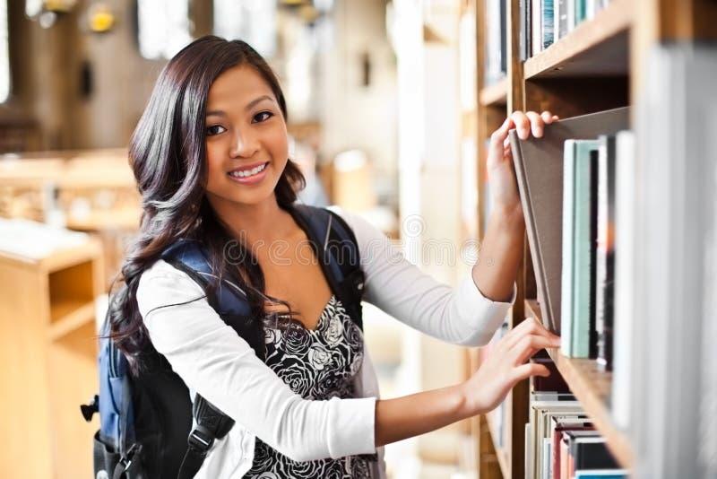 Studente di college asiatico immagini stock