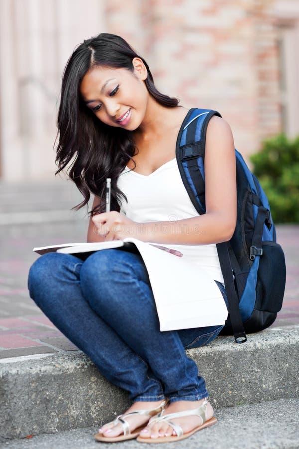 Studente di college asiatico immagine stock