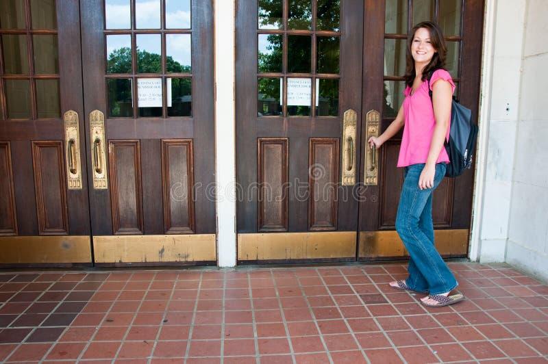 Studente di college femminile immagine stock libera da diritti