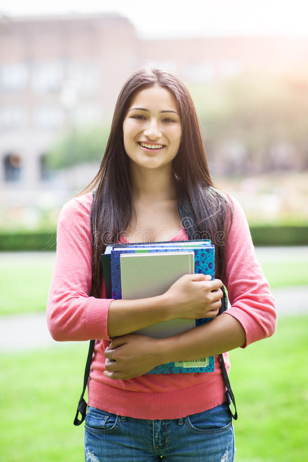 Studente di college ispanico fotografia stock