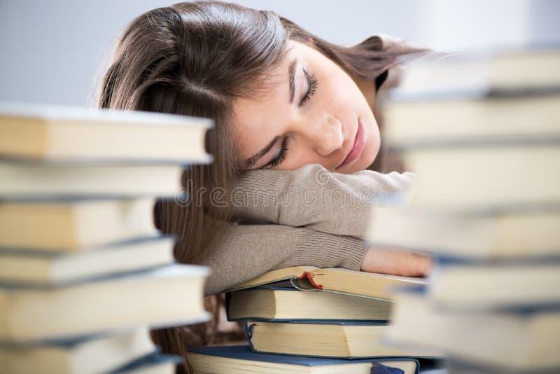 Studente stanco fotografie stock